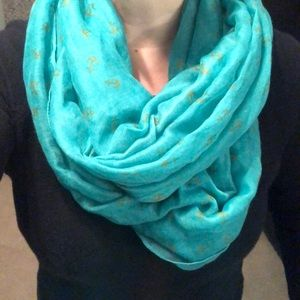 Accessories - Scarf bundle - teal anchors and pink polka dots